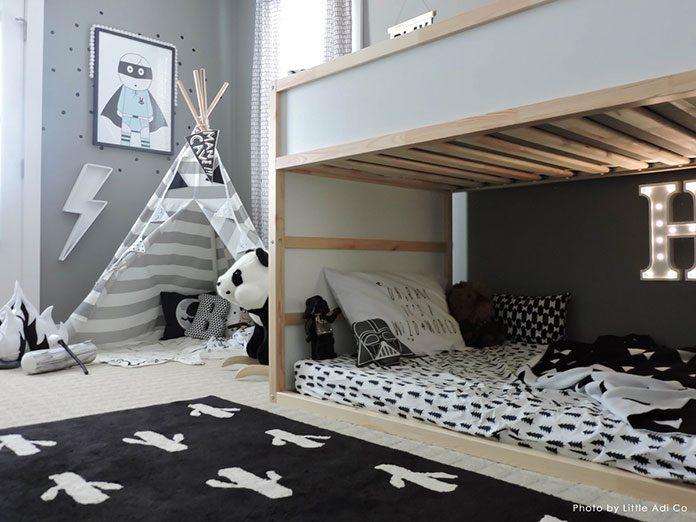 Jak podzielić wąski pokój dla dwójki dzieci? Propozycje mebli dla dzieci do pokoju dla bliźniaków